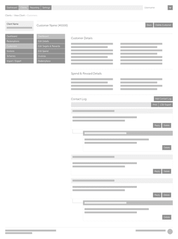 Website wireframe